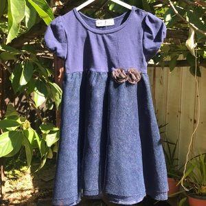 Girls Blue Formal Dress